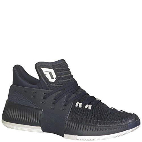adidas Dame 3 Shoe - Men's Basketball 9.5 Collegiate Navy/White