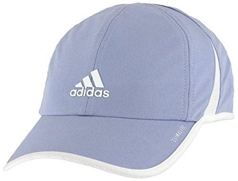 adidas Women's Superlite Relaxed Adjustable Performance Cap, Chalk Blue/White, One Size [product _type] adidas - Ultra Pickleball - The Pickleball Paddle MegaStore