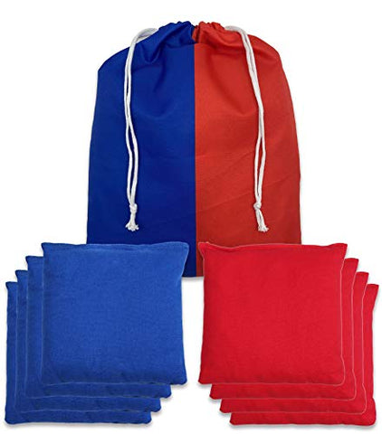 SPORT BEATS Cornhole Bags All Weather Cornhole Bean Bags Set of 8 for Cornhole Toss Games-Regulation Weight & Size-Includes Tote Bags