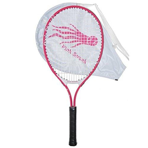"Pink Streak Junior Tennis Racquet - Strung with Cover (21"")"