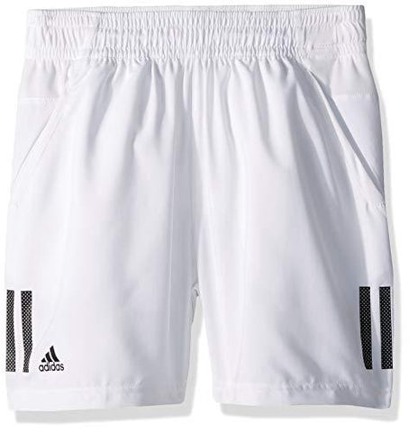 adidas Youth 3-Stripes Tennis Short, White/Black, Large