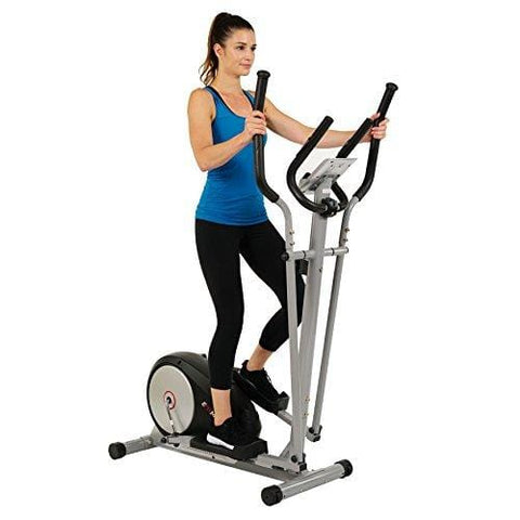 EFITMENT Magnetic Elliptical Machine Trainer w/LCD Monitor and Pulse Rate Grips - E006 (E006)