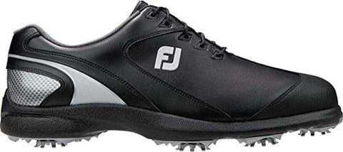 FootJoy Men's Sport LT Golf Shoes 58038 - Black/Silver - 9.5 - Medium [product _type] FootJoy - Ultra Pickleball - The Pickleball Paddle MegaStore