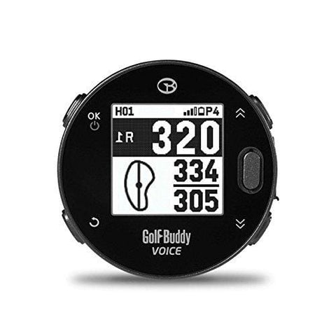 GolfBuddy Voicex Easy-to-Use Smart Talking Golf GPS, Black, Small
