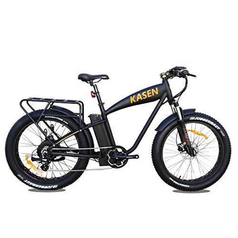 "kasen Premium Electric Bicycle K-6.0 1000W High Power Electric Bike Rear Drive 14.5Ah Lithium Battery Electric Cruiser E-Bike 26"" Fat Tire Ebike Front Fork Suspension Mountain Beach Snow Pedal Assist"
