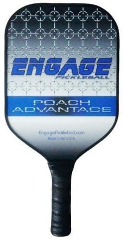 Engage Poach Advantage Pickleball Paddle (Blue Standard 7.9-8.3 oz)