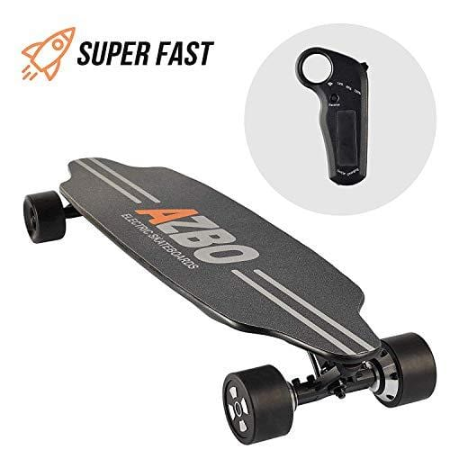 Remote Control Skateboard >> Electric Skateboard Longboard With Remote Control By Azbo 2000w Dual Motor Ul2272 Certified High Speed 25 Mph Motorized Wireless H6 Board 18 Miles