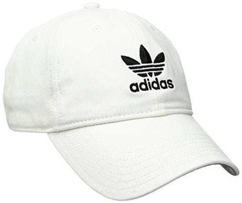 adidas Men's Originals Relaxed Strapback Cap, White/Black, One Size [product _type] adidas Originals - Ultra Pickleball - The Pickleball Paddle MegaStore