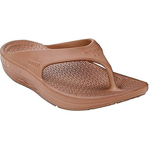 Telic Terox Unisex Fashion Flip Flop Sandal (Made in the USA) (Large (US Wn's 11/Men's 10), Coffee Bean)