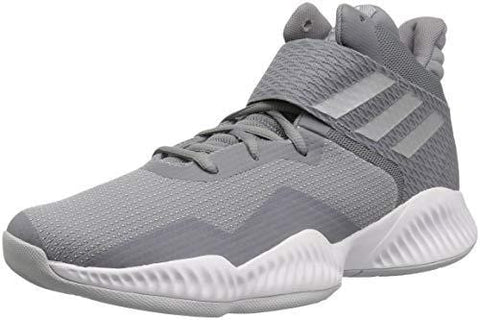 adidas Men's Explosive Bounce 2018 Basketball Shoe, Light Solid Silver Metallic/Grey, 9 M US