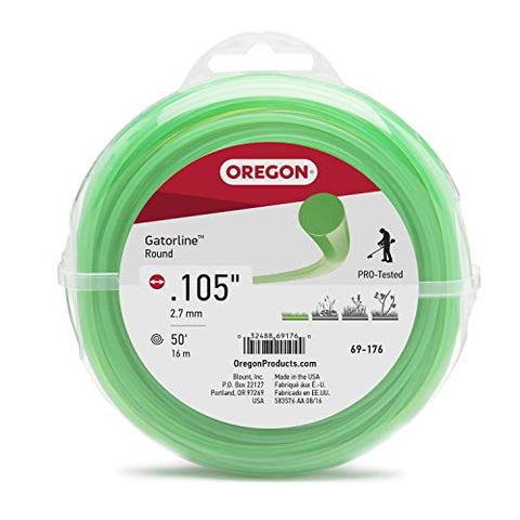 Oregon 69-176 Gatorline Coil of .105-Inch-by-50-Foot Round String Trimmer Line