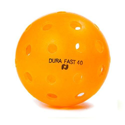 Dura Fast 40 Pickleballs | Outdoor pickleball balls | Orange| Pack of 6 | USAPA Approved and Sanctioned for Tournament Play, Professional Perfomance