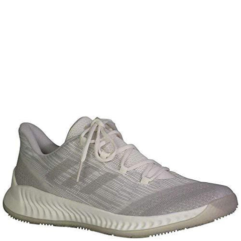 adidas B/E 2 Shoe - Men's Basketball 10 Cloud White/Silver Metallic/Grey