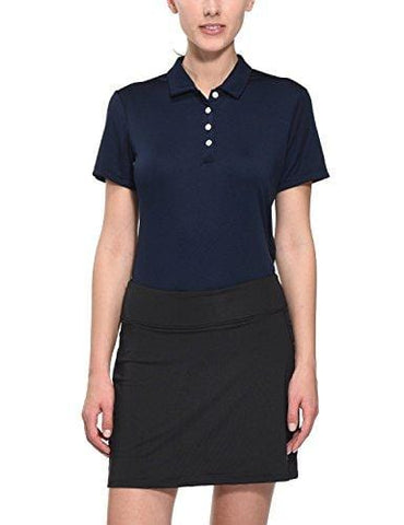 Baleaf Women's Golf Tennis Polo Shirts Quick Dry Short Sleeve UPF 50+ Navy Size L