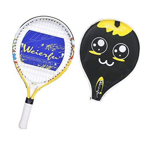 Weierfu Junior Tennis Racket for Kids Toddlers Starter Racket 17 with Cover Bag Light Weight(Strung)