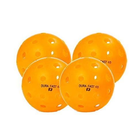 Dura Fast 40 Outdoor Pickleball - 4 Pack (Orange)