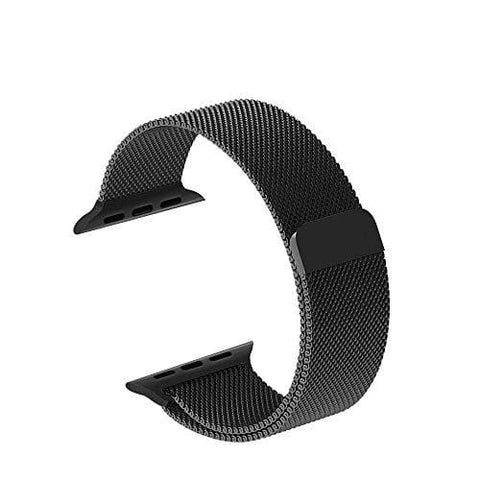 Smartwatch Bands for Apple Watch Series 4/3/2/1, Milanese Loop Band Stainless Steel with Adjustable Magnetic Closure Replacement Sport Bands Compatible with iWatch (Black,42mm/44mm) ...