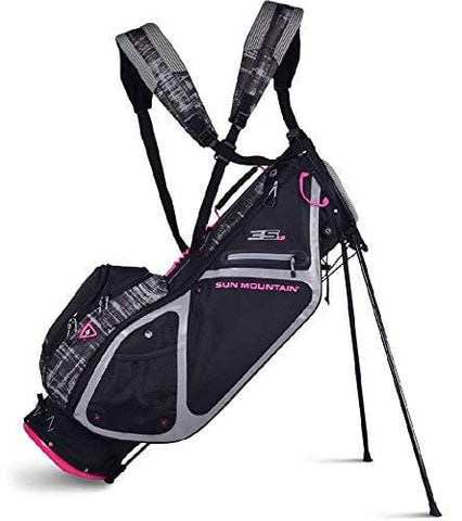 Sun Mountain Golf 2019 Women's 3.5 LS Stand Bag - Black-Gray-Galaxy-Pink