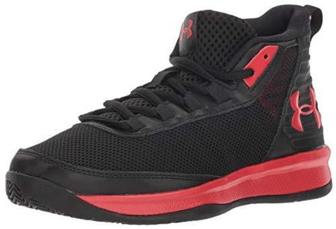 Under Armour Boys' Pre School Jet 2018 Basketball Shoe, Black (001)/Red, 13.5K M US Little Kid