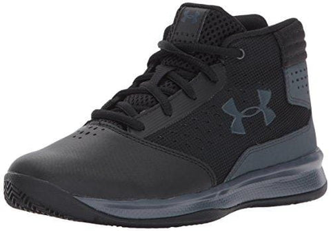 Under Armour Boys' Pre School Jet 2017 Basketball Shoe, Black (001)/Rhino Gray, 10.5K