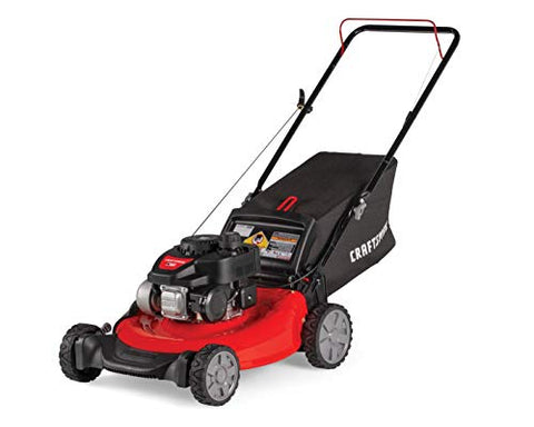 CRAFTSMAN M105 140cc 21-Inch 3-in-1 Gas Powered Push Lawn Mower with Bagger