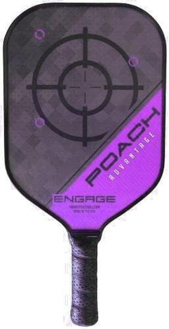 Engage Poach Advantage Pickleball Paddle (Purple 7.5 oz) [product _type] Engage Pickleball - Ultra Pickleball - The Pickleball Paddle MegaStore