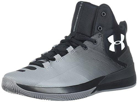 Under Armour Men's Rocket 3 Basketball Shoe, Black (005)/Zinc Gray, 9.5