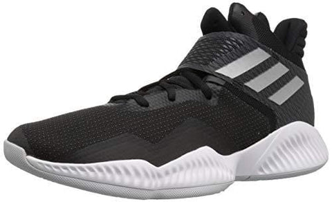 adidas Men's Explosive Bounce 2018 Basketball Shoe, Black/Silver Metallic/Light Solid Grey, 11 M US