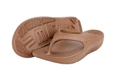 Telic Terox Men's Flip Flop Sandal (Made in the USA) (10, Coffee)