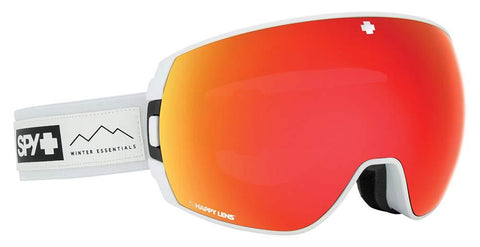 Spy Optic Legacy Asian Fit Essential White Happy Gray Green W/Red Spectra+Happy Yellow One Size