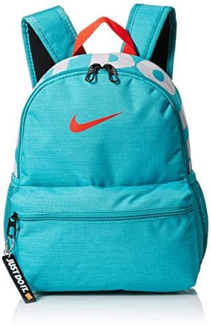 Nike Brasilia Just Do It Mini Backpack, Cabana/Black/Habanero Red, Misc