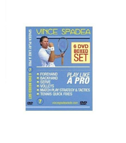 ATP Tennis Tour Pro, Vince Spadea's, Play Tennis Like A Pro, 6 DVD BOXED SET!