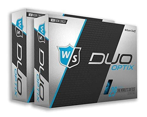 PlayBetter Wilson Staff Duo Optix Matte Bright-Colored Golf Balls | Multi-Packs (Two Dozen, Breakneck Blue)