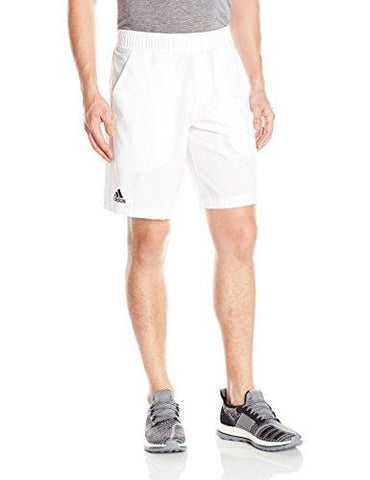 adidas Men's Tennis Essex Shorts, White/Black, Small