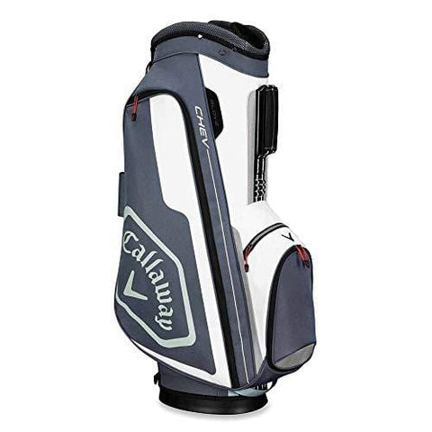 Callaway Golf 2019 Chev Cart Bag, Titanium/White/Silver [product _type] Callaway - Ultra Pickleball - The Pickleball Paddle MegaStore