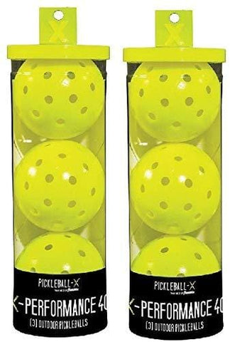 Franklin 52821 X-Performance 3 Pack Optic Yellow Pickleballs - Quantity 2