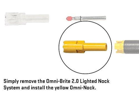 Tenpoint Omni-Brite 2.0 Omni-Cap/Nock for Crossbow Arrows, Yellow, 6 Pack (HEA-342.6Y)