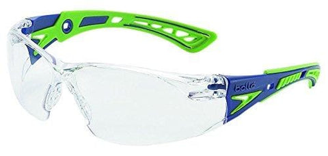 Bolle Safety RUSH+ 40256 Clear PC ASAF - Platinum Blue & Green