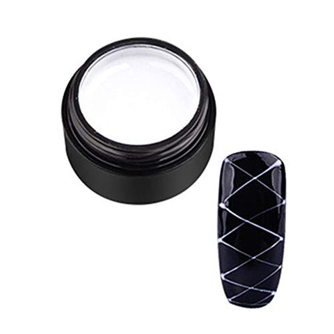 Acamifashion DIY Pulling Line Silk Spider Painting Drawing Gel UV Nail Art Varnish Lacquer White