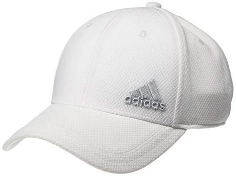 adidas Men's Release Stretch Fit Structured Cap, White/Clear Grey, Large/X-Large