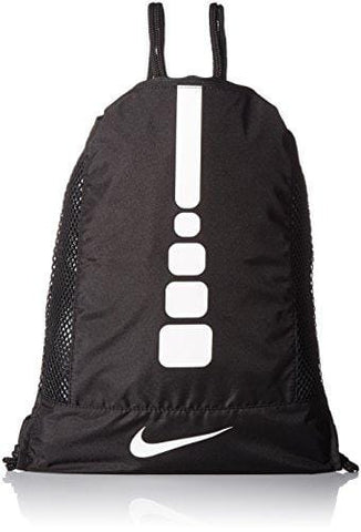 Nike Men's Hoops Elite Basketball Gym Sack (Black/Black/White)