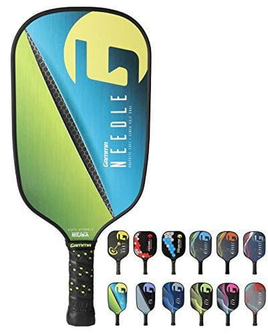Gamma Needle Elongated Pickleball Paddle: Pickle Ball Paddles for Indoor & Outdoor Play - USAPA Approved Racquet for Adults & Kids - Pink/Blue [product _type] Gamma - Ultra Pickleball - The Pickleball Paddle MegaStore