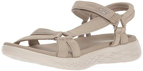 Skechers Performance Women's on-the-Go 600-Brilliancy Sport Sandal, natural, 7 M US