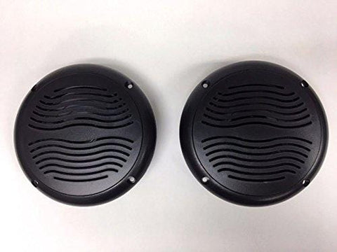 "1 Pair RV Marine Camper Trailer Black Wave 5.25"" Speakers UV Protected Waterproof"