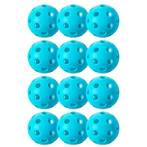 Franklin Sports X-26 Pickleballs - Indoor - 12 Pack - USAPA Approved - Blue