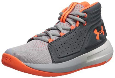 Under Armour Boys' Pre School Torch Mid Basketball Shoe, Mod (101)/Pitch Gray, 12.5K M US Little Kid