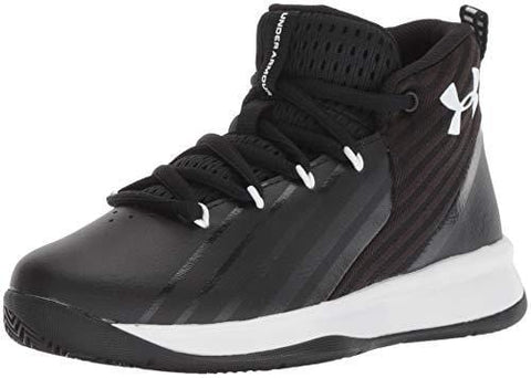 Under Armour Boys' Pre School Launch Basketball Shoe Black (002)/White, 2