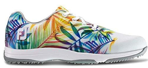 FootJoy Women's Leisure-Previous Season Style Golf Shoes White 7.5 M Tropical Print, US
