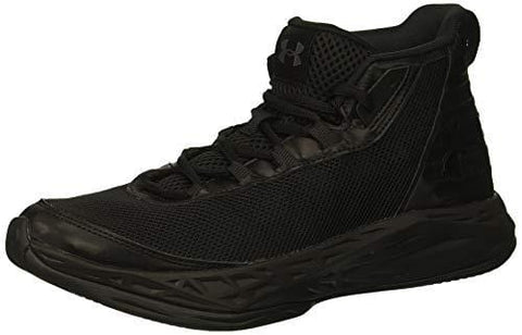 Under Armour Boys' Grade School Jet 2018 SYN Basketball Shoe, (002)/Black, 5.5