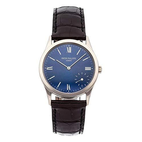 Patek Philippe Calatrava Mechanical (Automatic) Blue Dial Mens Watch 5026G-015 (Certified Pre-Owned)